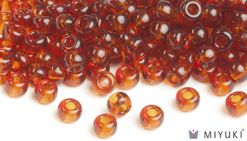 Miyuki 8/0 Glass Beads 134 - Transparent Copper approx. 30 grams picture