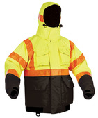Hi-Vis Deluxe Flotation Jacket with ArcticShield Hood