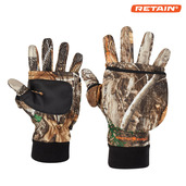 System Gloves with Tech Fingers - Realtree Edge