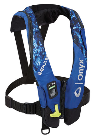 Impulse A-24 In-Sight Automatic Inflatable Life Jacket (PFD) - Mossy Oak Elements