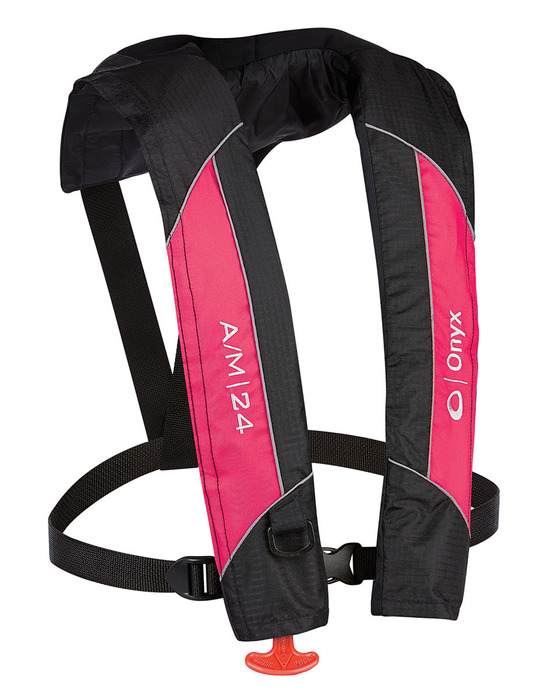 Image result for ONYX A/M-24 Automatic/Manual Inflatable Life Jacket, Pink