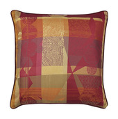 """Mille Tingari Terre Rouge Cushion Cover 16""""x16"""", 100% Cotton"""
