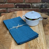 Recycled Cotton Napkin Teal, 100% Cotton