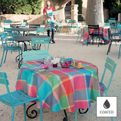 """Mille Wax Cocktail Tablecloth 69""""x98"""", Coated Cotton"""