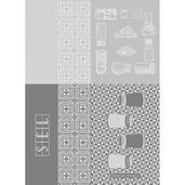 "Salieres Blanc 22""x30"" Kitchen Towel, 100% Cotton"