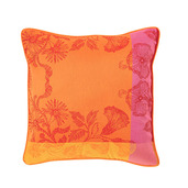 "Cushion Cover Mille Fiori Feuillage 20""x20"", Cotton - 2ea"