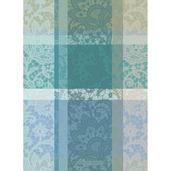 "Mille Dentelles Turquoise 22""x30"" Kitchen Towel, 100% Cotton"
