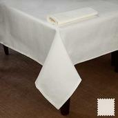 """Partridge Eye OA White Tablecloth 72""""x100"""", Cotton"""