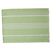 Green and White Pistachio Large Herringbone Stripe Kitchen Towel