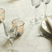"Mille Eternel Albatre Tablecloth Round 71"", 100% Cotton"