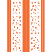 La Cocotte Papaye Printed Kitchen Towel