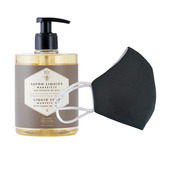 6 Washable protective masks GT9501 + 3 bottles of Regenerating Honey French Hand Soap.