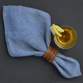 Chevroni Blue Napkin, Cotton-4ea
