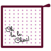 Oh La la Cherie Pourpre Pot Holder