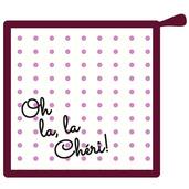 Oh La la Cherie Pourpre Pot Holder