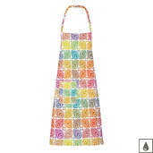 """Mille Paons Festival 28""""x33"""" Apron, Coated Cotton"""