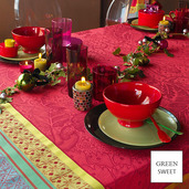 """Isaphire Rubis Tablecloth 69""""x69"""", Green Sweet"""