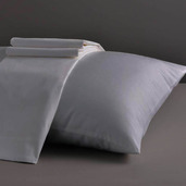 Divine Collection Light Grey King Set of Two Pillow Cases 600TC, 100% ELS Cotton.