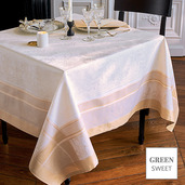 """Persina Dore Or Tablecloth 69""""x100"""", Green Sweet"""