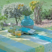 """Mille Alcees Narcisse Tablecloth 71""""x71"""", 100% Cotton"""