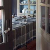 "Mille Wax Cendre Tablecloth 35""x35"", 100% Cotton"