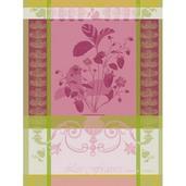 "Fraisier Rose Kitchen Towel 22""x30"", 100% Cotton"