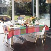 """Mille Gardenias Bourgeons Tablecloth 71""""x98"""", 100% Cotton"""