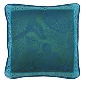 "Cushion Cover Isaphire Emeraude 20""x20"" , Set of 2"