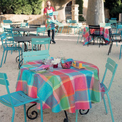 """Mille Wax Cocktail Tablecloth 71""""x71"""", 100% Cotton"""