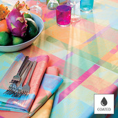 """Mille Tingari Austral Tablecloth 69""""x98"""", Coated Cotton"""