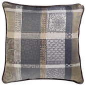 """Mille Wax Cendre Cushion Cover  20""""x20"""", 100% Cotton"""