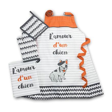 L'amour d'un Chien Orange Kitchen Set picture
