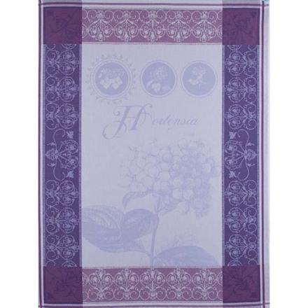 """Torchon Hortensia Bleu Kitchen Towel 22""""x30"""", 100% Cotton picture"""