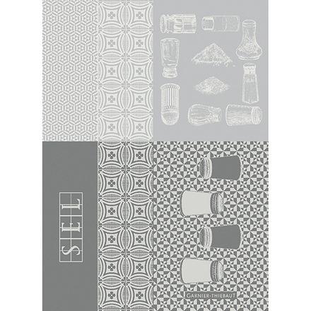 "Salieres Blanc 22""x30"" Kitchen Towel, 100% Cotton picture"