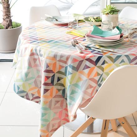 """Mille Twist Pastel Tablecloth 61""""x98"""", 100% Cotton picture"""