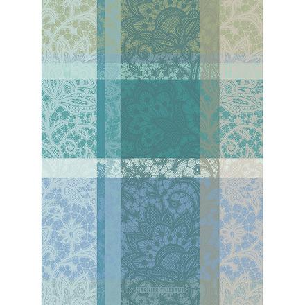 """Mille Dentelles Turquoise 22""""x30"""" Kitchen Towel, 100% Cotton picture"""