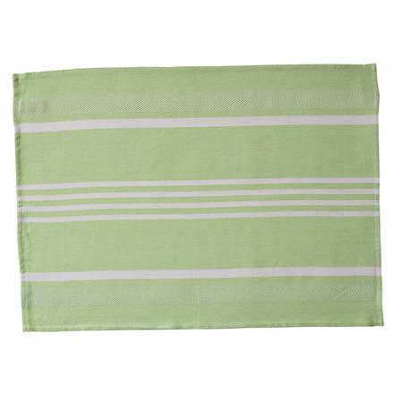 Green and White Pistachio Large Herringbone Stripe Kitchen Towel picture