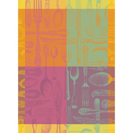 """Couverts Et Couleurs Orange Kitchen Towel 22""""x30"""", 100% Cotton picture"""