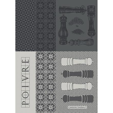 """Poivrieres Noir 22""""x30"""" Kitchen Towel, 100% Cotton picture"""