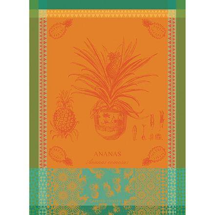 """Ananas en Pot Jaune Soleil 22""""x30"""" Kitchen Towel, 100% Cotton picture"""