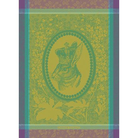 """Monsieur Lapin Vert Kitchen Towel 22""""x30"""", 100% Cotton picture"""