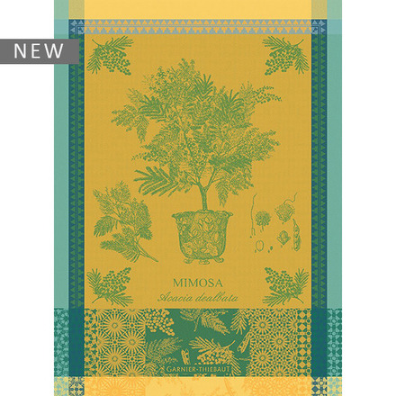 """Mimosa Yellow Kitchen Towel 22""""x30"""", 100% Cotton picture"""