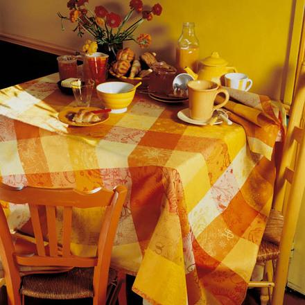 """Mille Couleurs Soleil Tablecloth 71""""x71"""", 100% Cotton picture"""