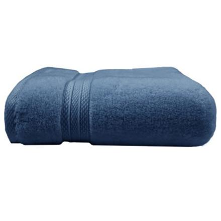 """Elea Bleu Ardoise Bath Towel 28""""x55"""", 100% Cotton picture"""