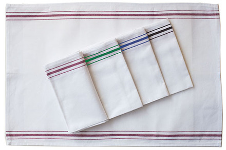 Pack of 12 Bistro Napkin Green Stripes picture