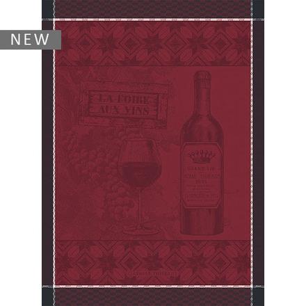 """Foire aux Vins Bordeaux Kitchen Towel 22""""x30"""", 100% Cotton picture"""