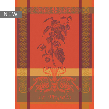 "Physalis Rust Kitchen Towel 22""x30"", 100% Cotton picture"