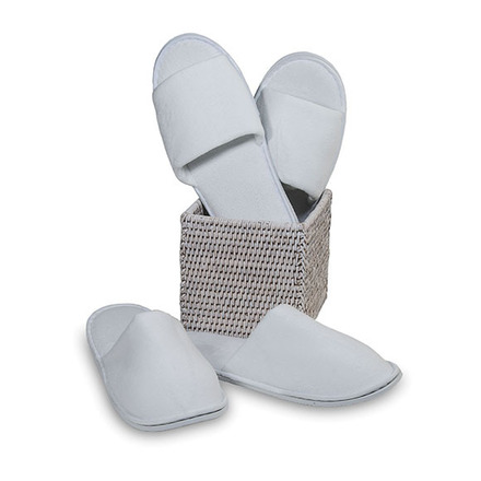 Slippers Open toe Velour White One size picture