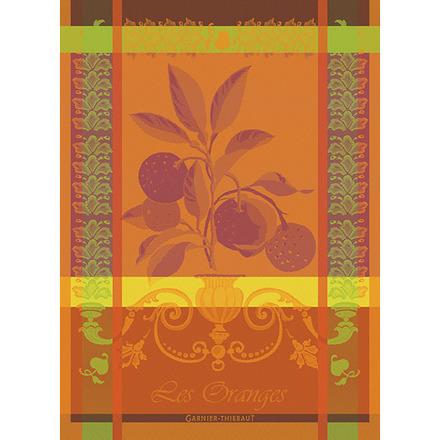 """Torchon Les Oranges Sanguine Kitchen Towel 22""""x30"""", 100% Cotton picture"""