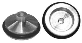 """Aluminum Fronts - 1/16"""" Axle x 1/2"""" Dia - 6 Pair picture"""
